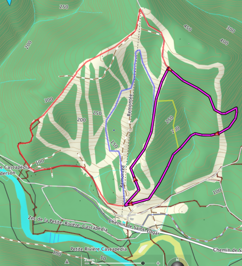 Pin-Rouge 3,7 km option 1