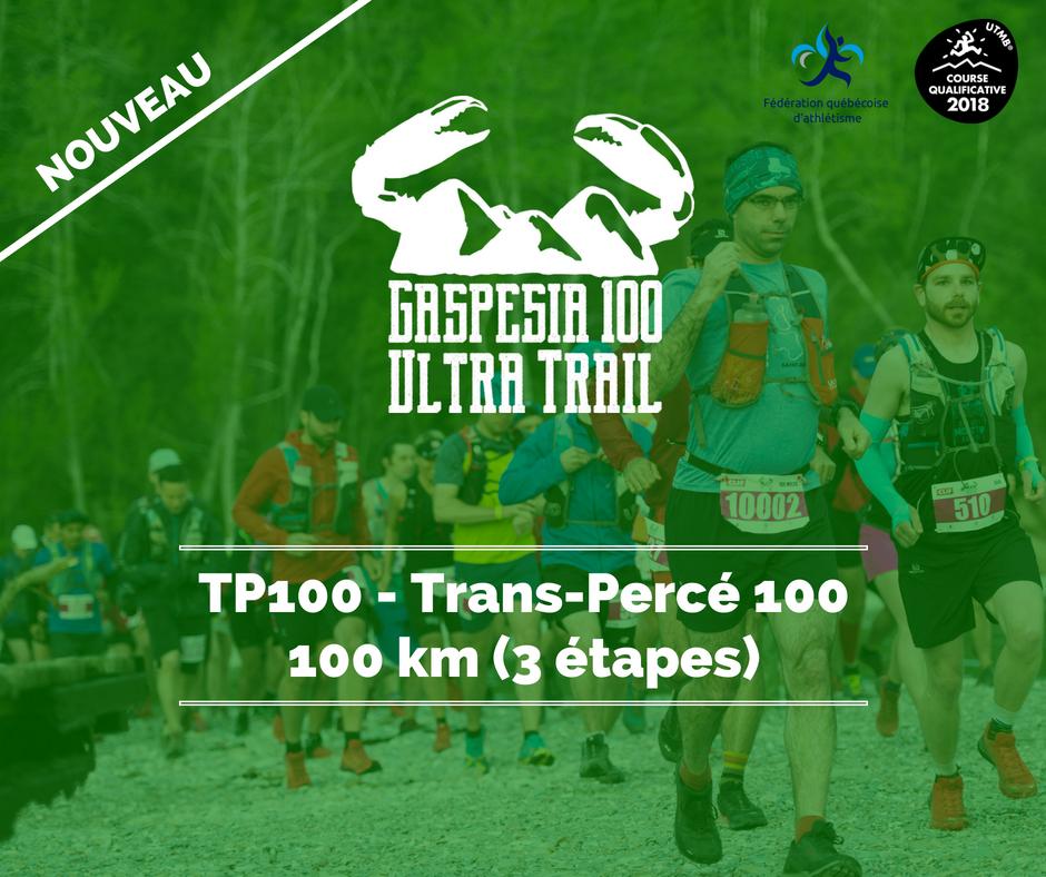 Ultra Trail Gaspesia 100 TP100 Fr