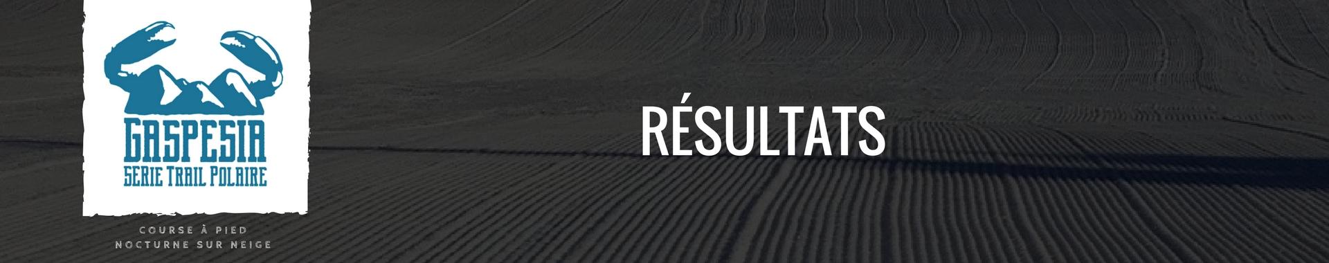 Trail Polaire Résultats